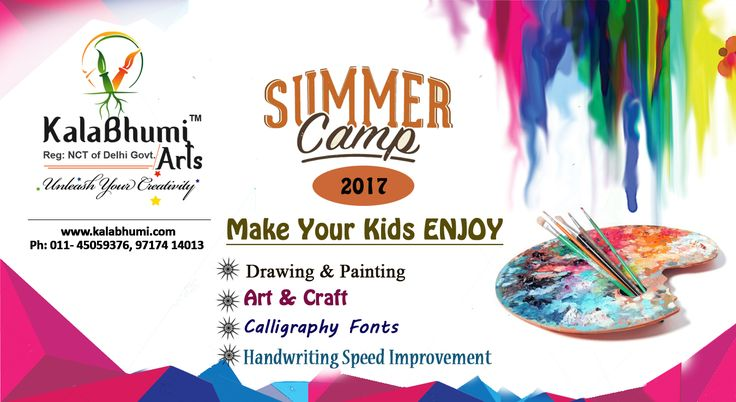 Admission Open For Summer Camp  2017 for kids drawing- painting, Art & Craft and calligraphy Writing