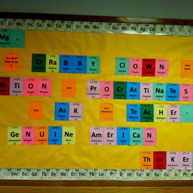 Chemistry bulletin board   Physical Science   Pinterest