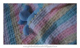 Olá, amiga(o)!      Durante o tempo que fiquei cuidando da mamãe, teci essa MANTA DE CROCHÊ LISTRADA PARA BEBÊ (Striped Crochet B...