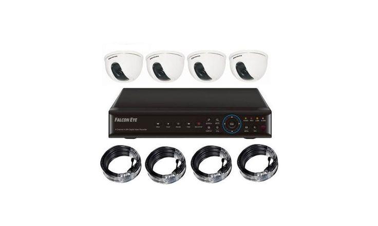 Комплект видеонаблюдения Falcon Eye «Дом» полезен людям, которые не владеют частным домом, но имеют предприятие. Он всегда будет следить за сотрудниками и покупателями и отслеживать их действия.