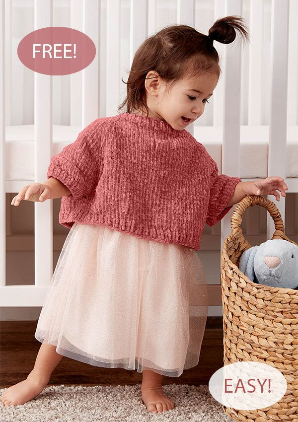 Free Knitting Pattern For Easy One Skein Baby Poncho Pullover Need