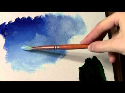 ▶ Blending and Scumbling - Acrylic Painting Lesson - YouTube  this is a really good one, watch again