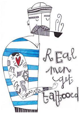 I veri uomini si fanno i tatuaggi