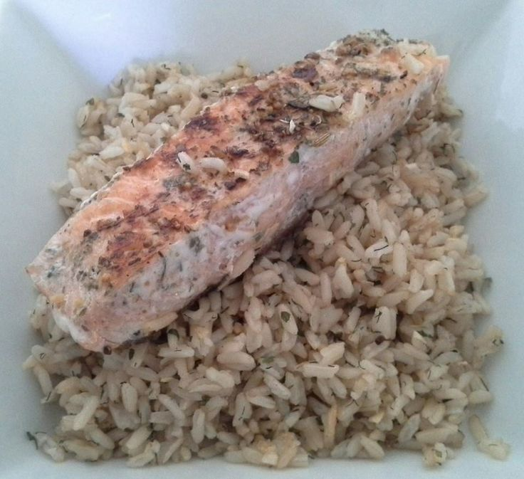 Salmon with Rice  1 salmon fillet, 1 tsp YIAH Mediterranean Olive Oil, 1 tbsp YIAH West Coast Fish Rub with Lemon Myrtle, 1 cup cooked brown rice, 1 tbsp YIAH Dill & Onion Dip Mix.   Rub olive oil onto salmon and place in heated pan. Sprinle fish rub onto salmon and cook 3 -4 minutes. Remove from the pan and set aside. Add rice and dip mix to the pan, stir and cook for 2 minutes. Serve rice onto plate and top with salmon.