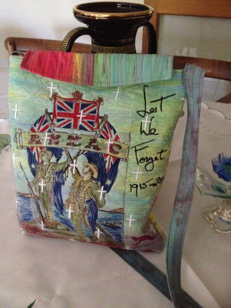 Anzac 1915-2015 handbag by maria mason