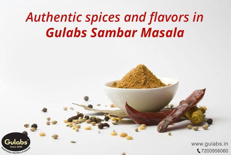 Sambar gets it's authenticity with #Gulabs #SambarMasalaPowder!