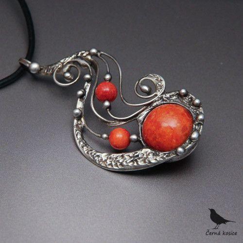 Nekonečno jinak (houbový Korál) - náhrdelník
