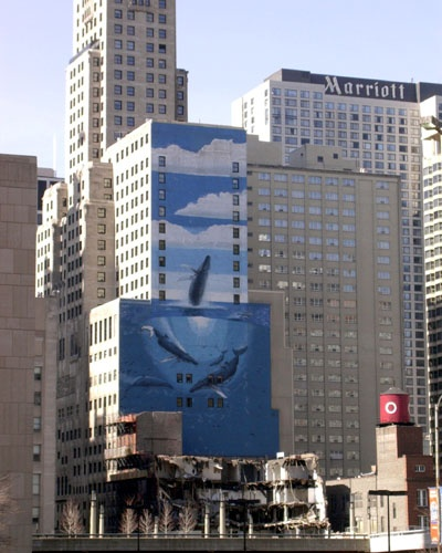 Wyland - one of my favorites-used to be in Chicago. Then they build a building right next to it so you can't see it.