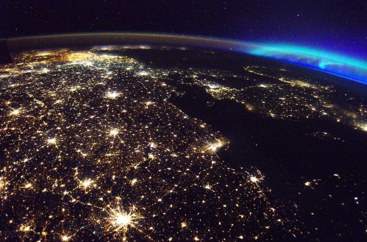 Earth at night daily overview