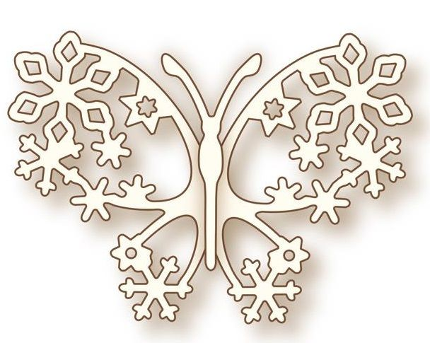 Wild Rose Studio - Die - Winter Butterfly