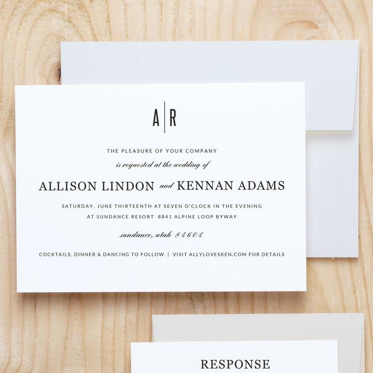 word wedding invitation