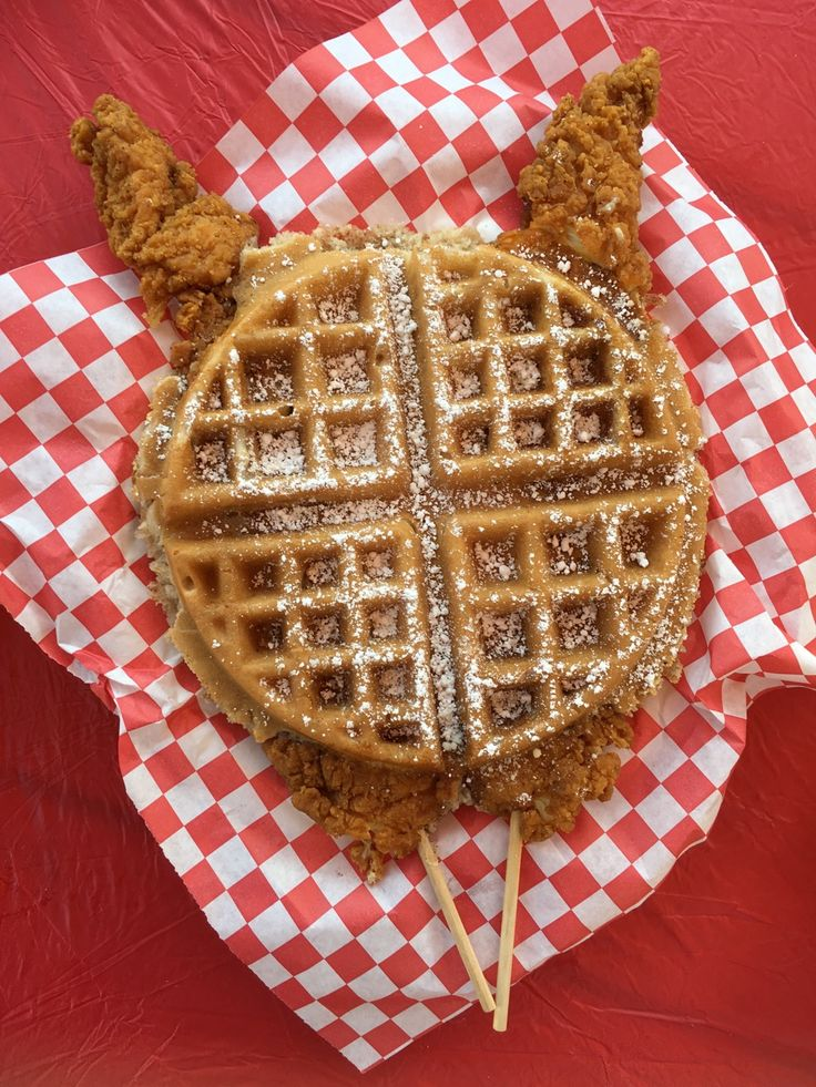 Chicken and Waffles at the LA County Fair