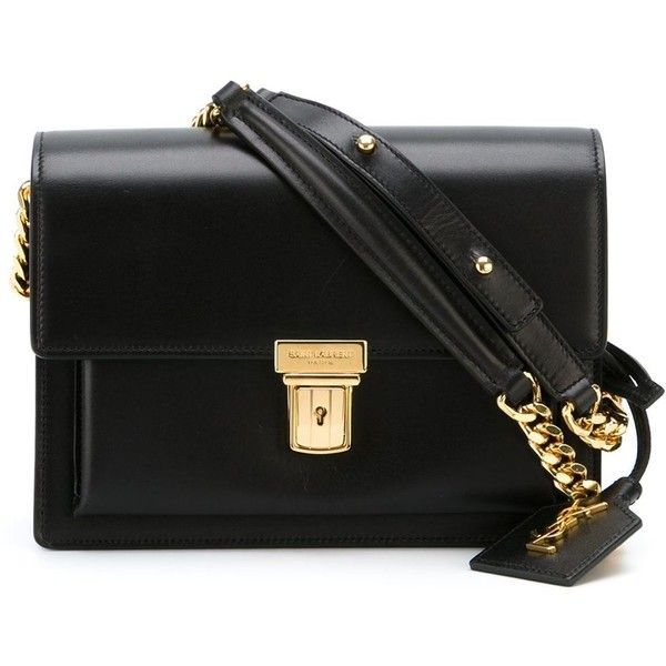 Saint Laurent mini 'High School' satchel (132.770 RUB) ❤ liked on Polyvore featuring bags, handbags, black, leather satchel purse, leather handbags, mini purse, black purse and black handbags