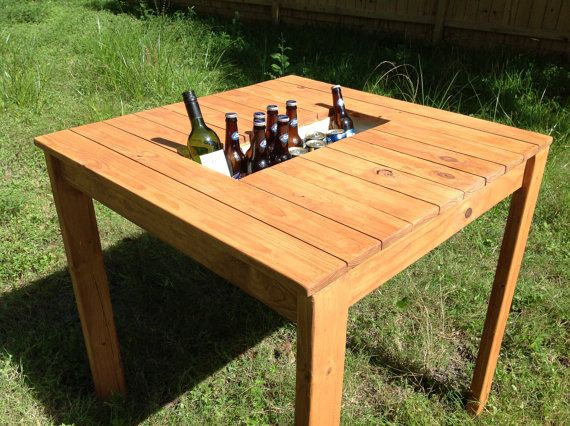 1000 images about diy outdoor table coolers on pinterest for Build patio table with cooler