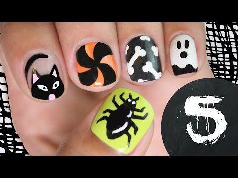 5 diseños escalofriantemente tiernos para Halloween   Decoración de Uñas - Manicura y Nail Art