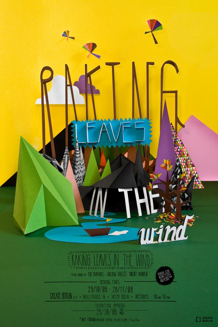 3d poster design software - Ranking Leaves In The Wind By Julien Vall E Eve Duhamel And Brent Wadden Paper Design3d