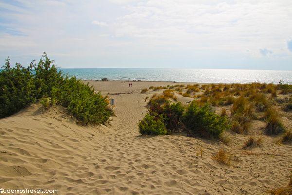 The wild beaches of Maremma National Park, Italy