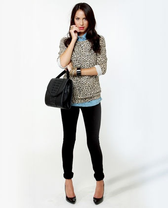 Leopard Print and chambray