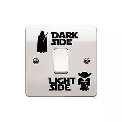 Star Wars Sticker  de Vinilo para interruptor habitacion Dark Side, Light Side