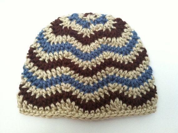 Crochet Patterns: Two Chevron Hat patterns  by CrochetSorbet