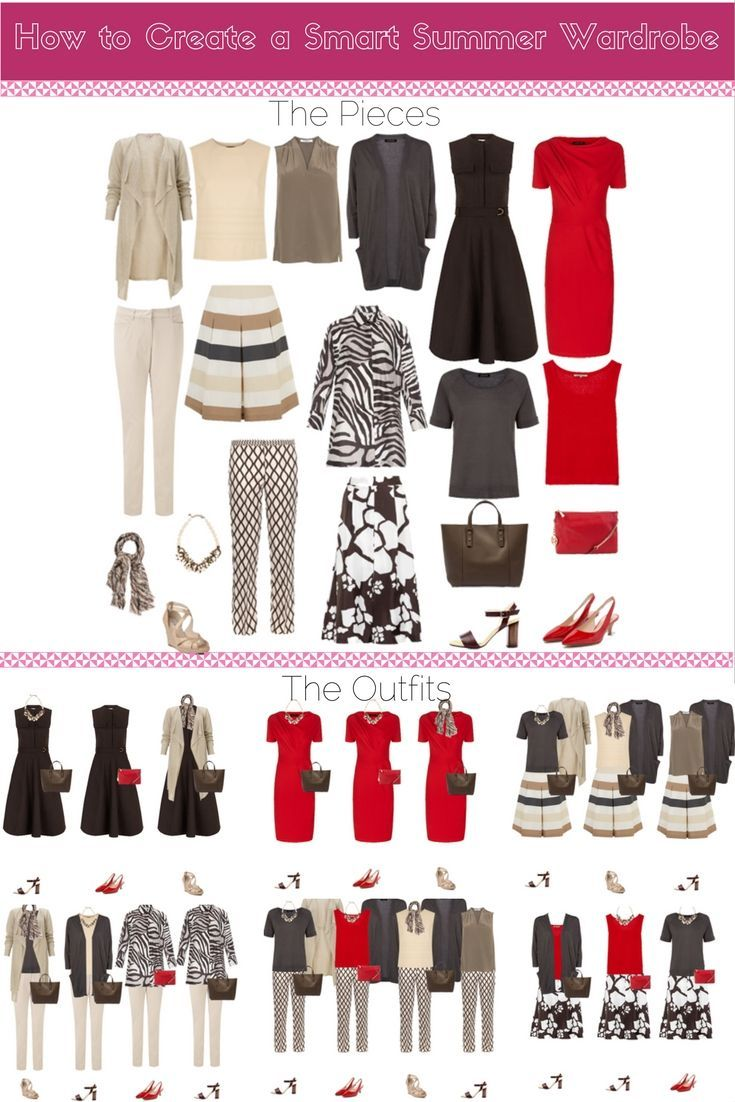 How to create a smart summer wardrobe. Love this- perfect for the office