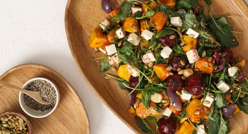 Tui Garden | Roast Vegetable, Goat Feta & Kale Salad