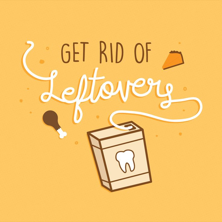 KEEP THANKSGIVING LEFTOVERS IN THE FRIDGE, not between your teeth! Remember to floss!