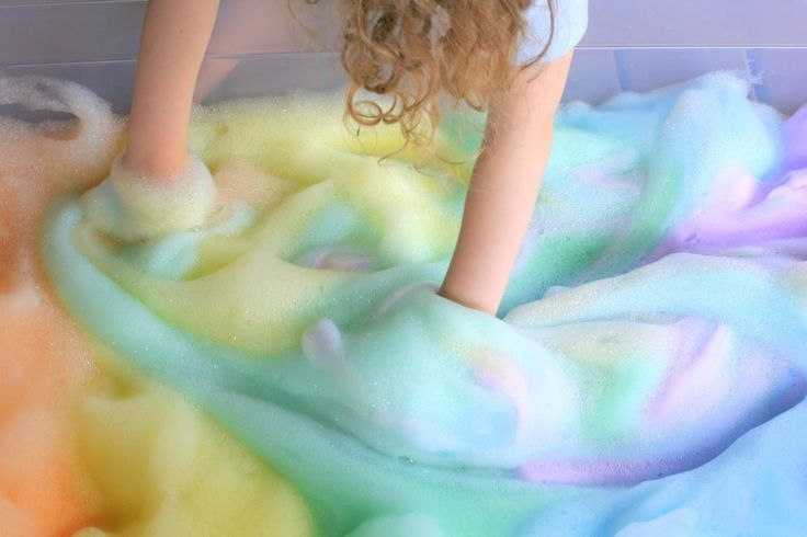 How-to: Rainbow Bubbles for kids.