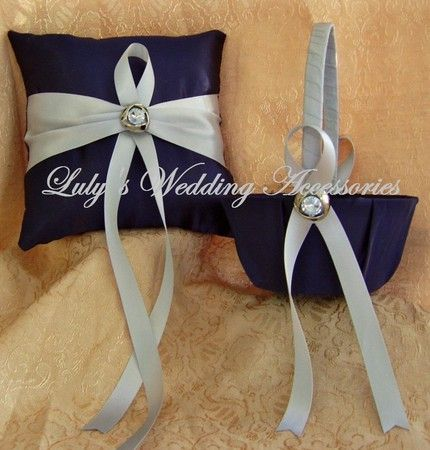 winter_wedding_navy_blue_and_gray_flower_girl_basket_and_ring_pillow_set