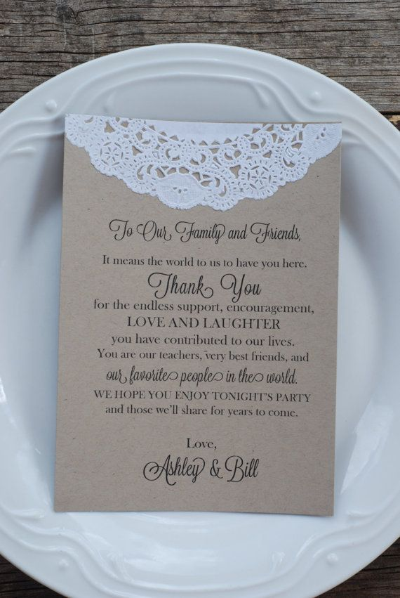 Custom Vintage Lace Doily Wedding Thank You Program by postscripts