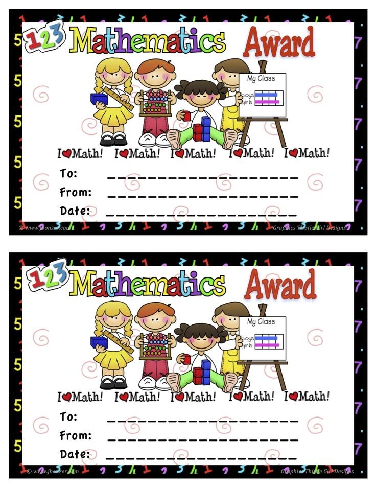 11 best Preschool awards images on Pinterest Award certificates - printable math awards