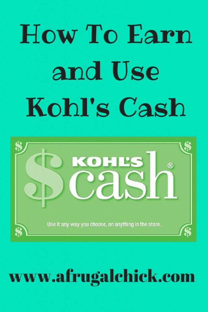 how can i earn kohls cash
