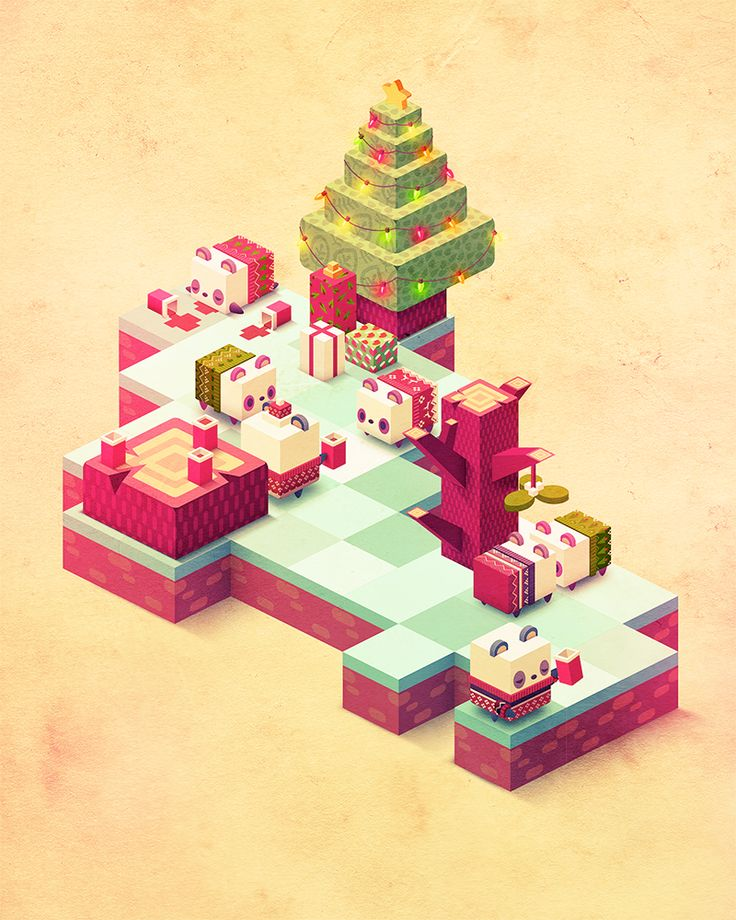 Non-denominational winter holiday panda party!