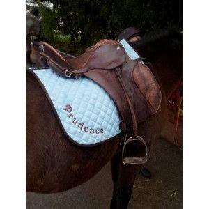 Coussin mariage - Tapis de selle pour cheval brodé
