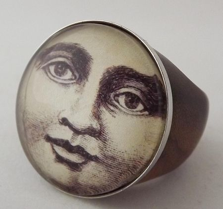 Vintage Moon Face 26 best Moon rings ima...