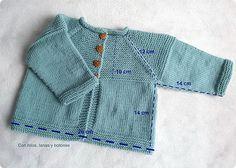Con hilos, lanas y botones: DIY cómo hacer una chaqueta de punto para bebé                                                                                                                                                     Más