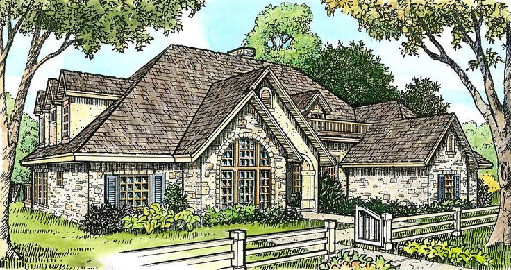 Hill Country Home Plan with Sunroom - 46029HC