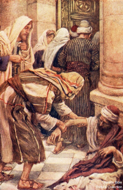 """But Peter said, """"I have no silver and gold, but I give you what I have; in the name of Jesus Christ of Nazareth, walk.""""     And he took him by the right hand and raised him up; and immediately his feet and ankles were made strong.    Acts 3:6-7"""