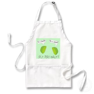 I guess even vegetables can have personality disorders. #apron #peas #green