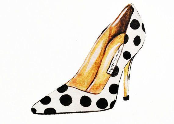 Impresión de la ilustración de moda zapato de por TalulaChristian
