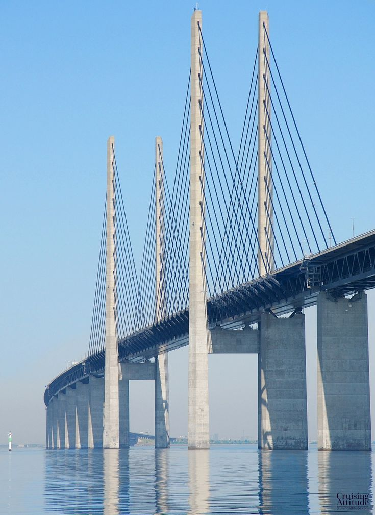 Öresund Bridge on the Malmö, Sweden side | Cruising Attitude Sailing Blog…