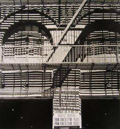 """""""Fire Escape""""' gelatin print, 1965,  by Ralph Steiner"""