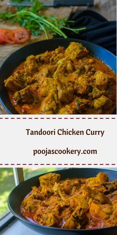 Best Indian Chicken curry using homemade Tandoori masala and can be served with naan, roti or rice.