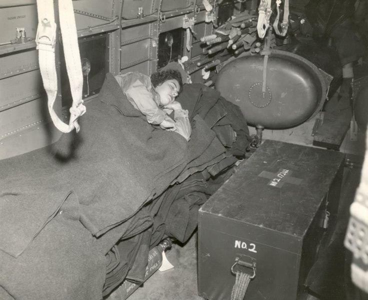 Flight Nurse Jane Kendeigh, trip from Iwo Jima, March 1945 ~