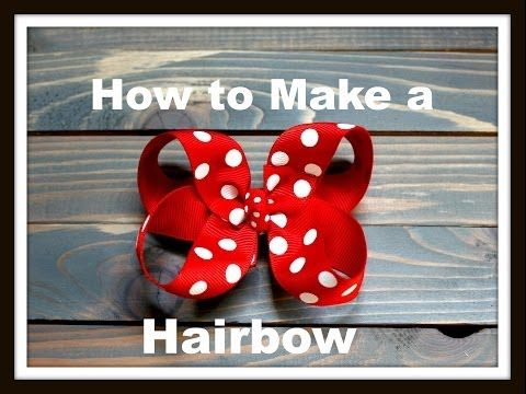 Boutique Hair Bow Tutorial - 3 inch Basic Bow - Hairbow Supplies, Etc. - YouTube