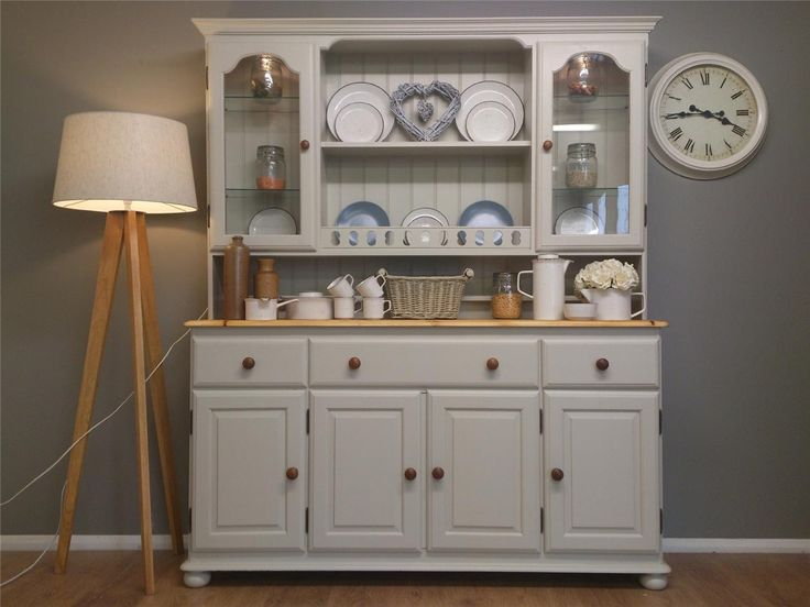Big Ducal Solid Pine Shabby Chic Painted Welsh Dresser Kitchen Furniture L Gr