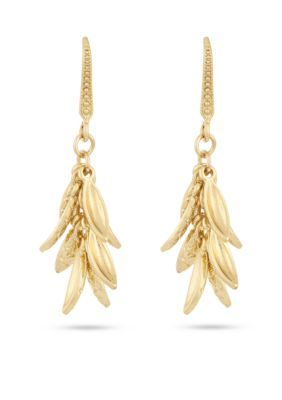 Laundry By Shelli Segal Women Gold-Tone Cluster Petal Drop Earrings - Gold - One Size