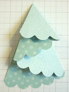 Folded Tree Tuorial: Folded Christmas Tree, Folding Card, Christmas Cards, Paper Christmas Tree, Tree Tuorial, Christmas Card Tree, Folded Tree Card, Christmas Tree Card