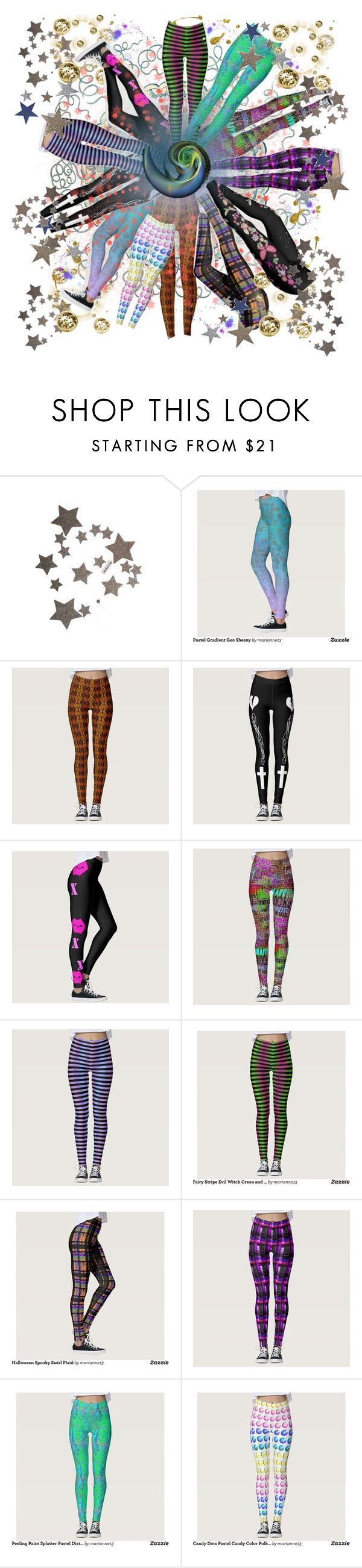 """""""Leggings for the Cosmically Inclined"""" by prettyroses ❤ liked on Polyvore featuring Les Petites..., Leggings and m13"""