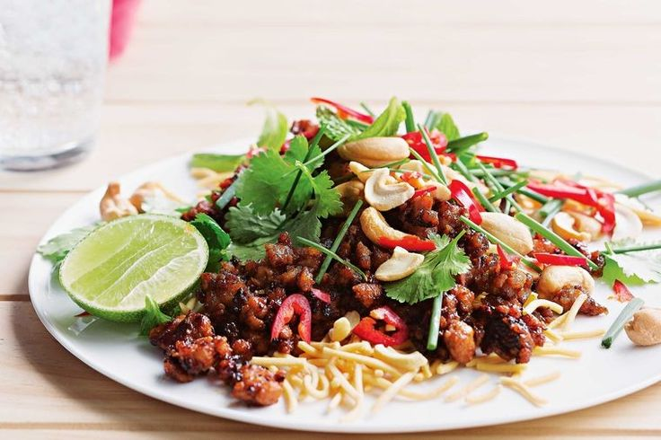 Long summer days call for a speedy dinner. Caramelised pork and crunchy noodles, with a big hit of lime and chilli, make this a winner.